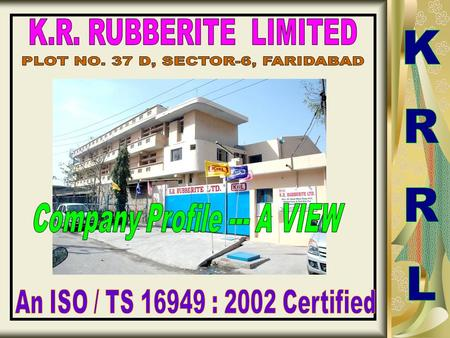 PLOT NO. 37 D, SECTOR-6, FARIDABAD KRRL