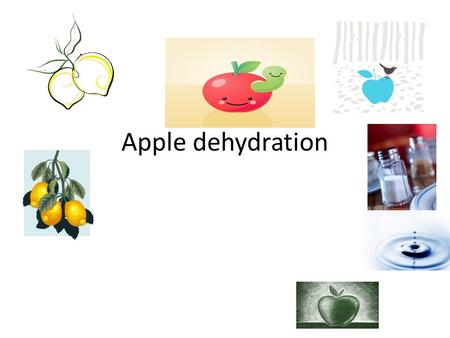 Apple dehydration. Table of contents 1.Title bibliography 2.Table of content encyclopedia 3.Question books 4.Hypothesis internet 5.Material 6.Procedures.