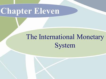 Chapter Eleven The International Monetary System.