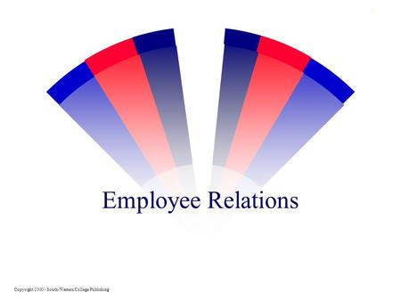 0 Employee Relations Copyright 2000 - South-Western College Publishing.