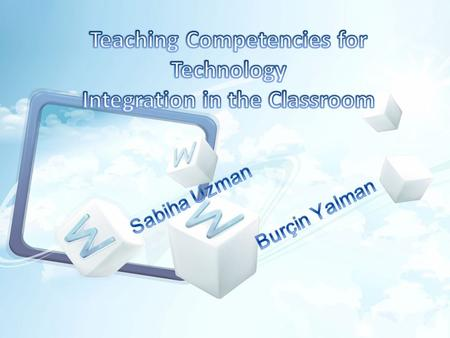 Outline Introduction Methodhology Domains associated with teacher training in technology integration Domains, knowledges and teaching competencies for.