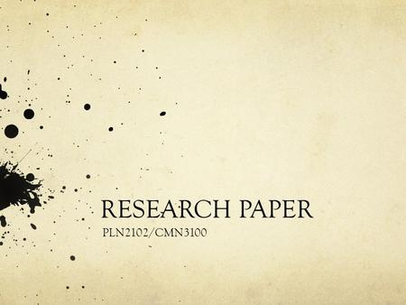 RESEARCH PAPER PLN2102/CMN3100. Research Paper (25%) Research on any aspect of the history and evolution of Polish film or a critical analysis of one.