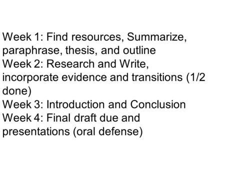 Dissertation Defense Outline