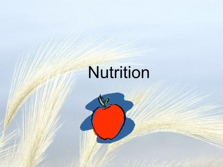 Nutrition. How are nutrients moved through the body?
