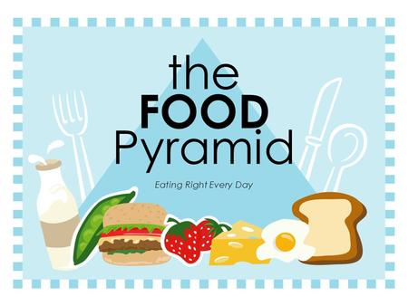 The FOOD Pyramid Eating Right Every Day. Nutrients  Substances in foods that provide energy and materials for cell development, growth and repair.