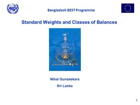 Standard Weights and Classes of Balances