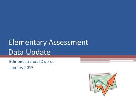 Elementary Assessment Data Update Edmonds School District January 2013.