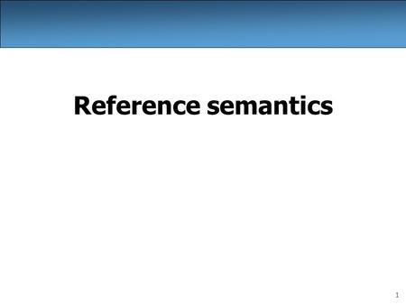 1 Reference semantics. 2 A swap method? Does the following swap method work? Why or why not? public static void main(String[] args) { int a = 7; int b.
