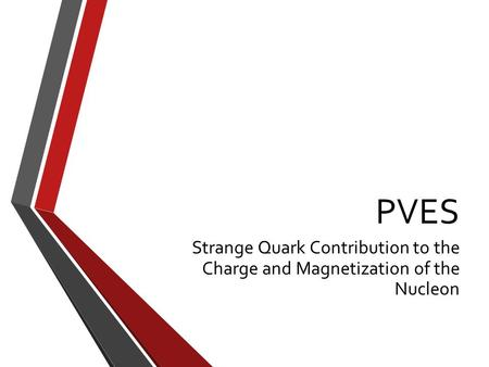 PVES Strange Quark Contribution to the Charge and Magnetization of the Nucleon.