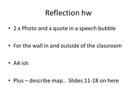 Reflection hw 2 x Photo and a quote in a speech bubble