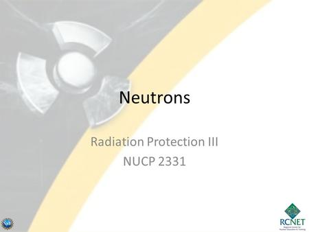 Radiation Protection III NUCP 2331