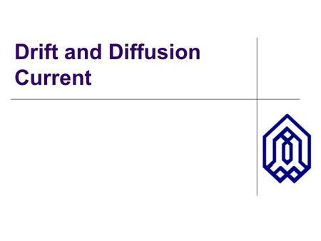 Drift and Diffusion Current