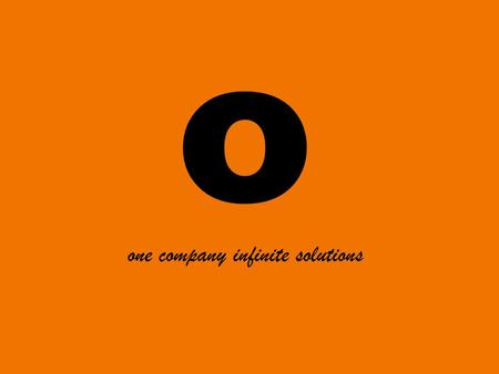 O one company infinite solutions. Return of JPL 2013.