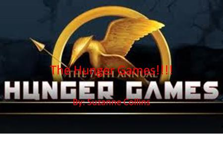 The Hunger Games!!!! By: Suzanne Collins. Thesis Statement Suzanne Collins uses her knowledge of Sci-Fi, Socialism, and Politics to write her Novels.