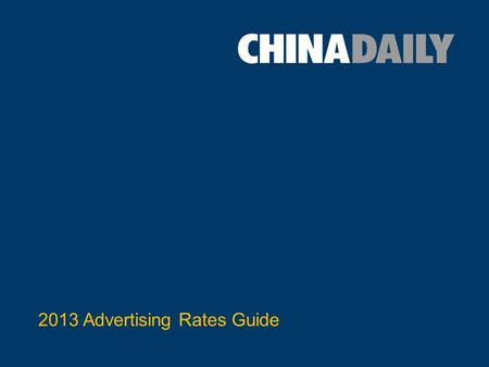 2013 Advertising Rates Guide. 1) Print Advertising.