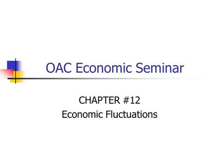 OAC Economic Seminar CHAPTER #12 Economic Fluctuations.