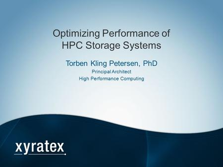 Optimizing Performance of HPC Storage Systems