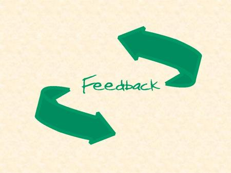 Objectives understand the feedback process and its' importance to learning understand the feedback process and its' importance to learning know factors.