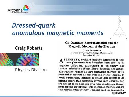 Dressed-quark anomalous magnetic moments Craig Roberts Physics Division ee.
