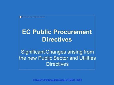EC Public Procurement Directives