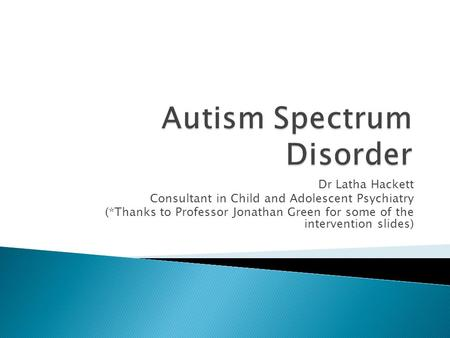 Autism: Cannabinoids and CBD Research Overview