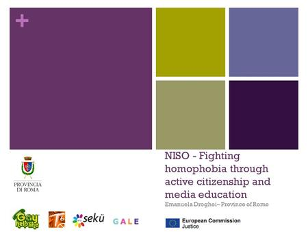 + NISO - Fighting homophobia through active citizenship and media education Emanuela Droghei– Province of Rome.
