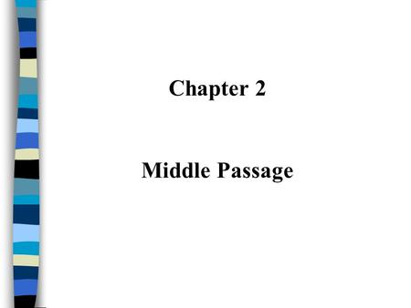 Chapter 2 Middle Passage. I. European Exploration ~ Colonization (Section 1) Western European countries expand during 15th century because they... –Explore,