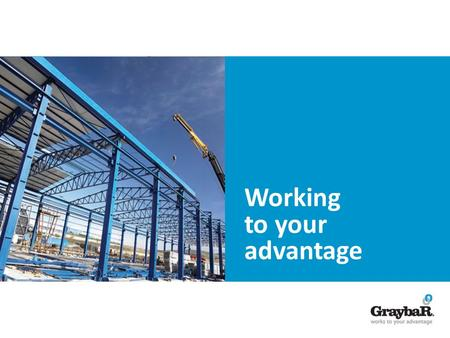 Working to your advantage. The Vital Link in the Supply Chain Graybar is a leading distributor of electrical, and security products. We help customers.