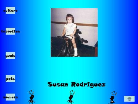 Susan Rodriguez culture favorites goals pets sources.