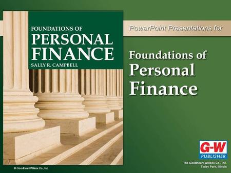 Foundations of Personal Finance Ch. 8