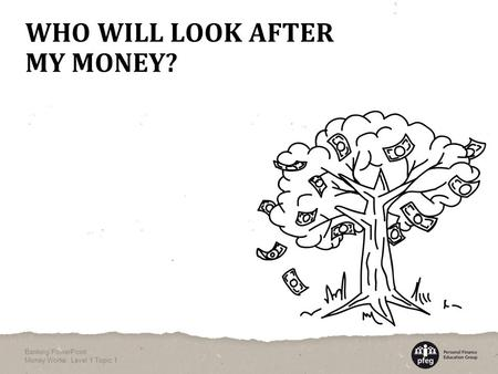 WHO WILL LOOK AFTER MY MONEY? Banking PowerPoint Money Works: Level 1 Topic 1.