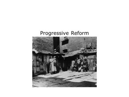 Progressive Reform. Terms and People Progressivism – movement that responded to the pressures of industrialization and urbanization by promoting reforms.