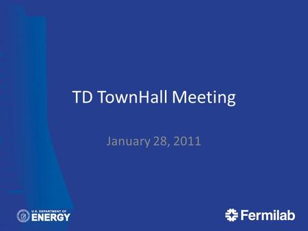 TD TownHall Meeting January 28, 2011. Agenda Monthly Metric Review Network Upgrade Status Server Move Status Filemaker Pro Cleanup Windows 7 Migration.