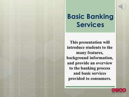 Basic Banking Services