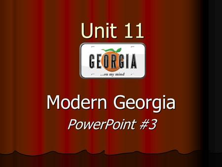 Modern Georgia PowerPoint #3