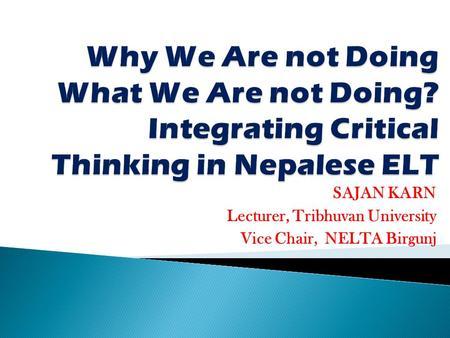 critical thinking in teaching english language