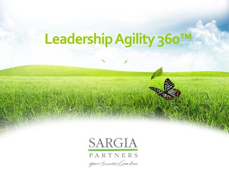 Leadership Agility Leadership Agility Leadership Agility 360™