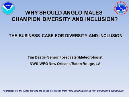 Why Should Anglo Males Champion Diversity and Inclusion?
