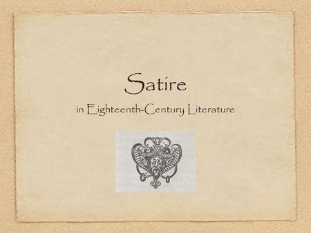 in Eighteenth-Century Literature