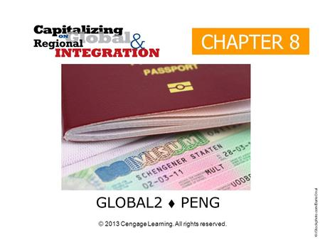 © 2013 Cengage Learning. All rights reserved. CHAPTER 8 GLOBAL2  PENG © iStockphoto.com/Baris Onal.