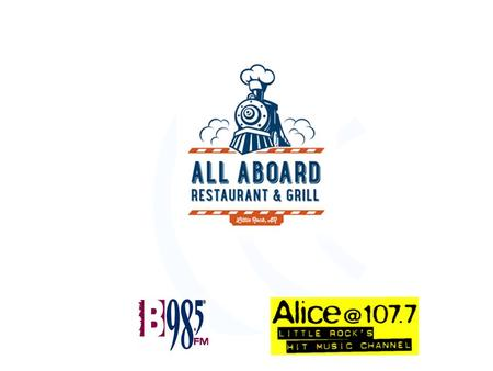 "Our Objectives For ""All Aboard"" We've discussed some of your marketing goals and what is needed to maximize the impact of your brand. –Primary branding."