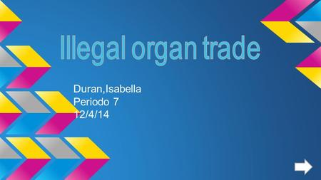 Duran,Isabella Periodo 7 12/4/14. Organs ➢ An organ is a collection of tissues put together to serve a function.
