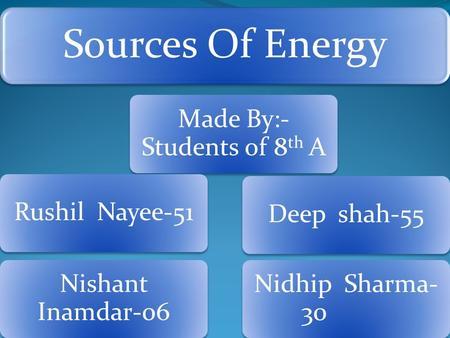 Preliminary Chemistry