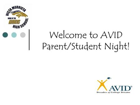 Welcome to AVID Parent/Student Night!. Who are the AVID 9 Teachers? Matt Bean: 951-894-5750 Ext: 6608 (Coordinator) 951-894-5750.