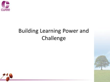 Building Learning Power and Challenge. What is Building Learning Power? Building Learning Power (BLP) is an approach to helping young people become more.