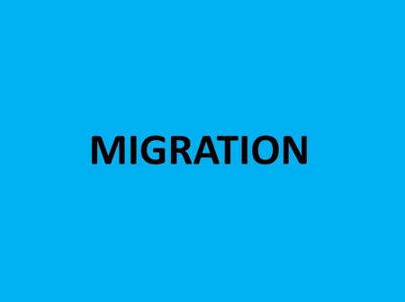 MIGRATION. KEY TERMS: Migration Immigration Emigration Push and pull factors.