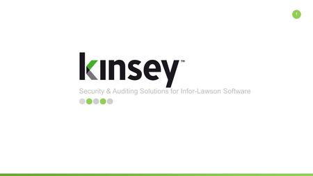 Security & Auditing Solutions for Infor-Lawson Software 1.
