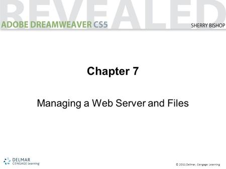 © 2011 Delmar, Cengage Learning Chapter 7 Managing a Web Server and Files.