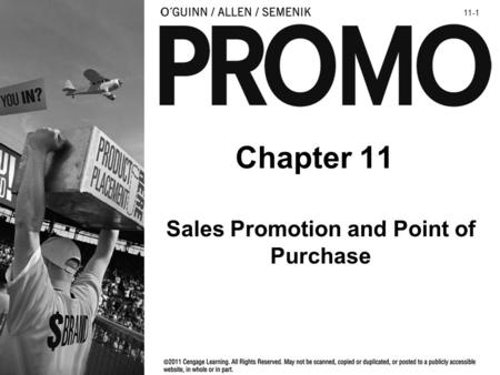 Sales Promotion and Point of Purchase