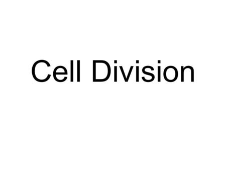 Cell Division. Prokaryotes Binary fission is the way in which bacteria divide and produce two new cells.